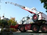 Betonování za pomocí mobilního jeřábu z Brna firmy Lubomír Velčovský autojeřáby